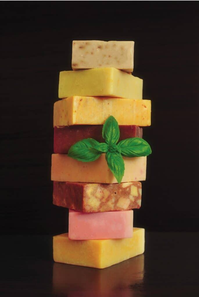 A Stack of bar soaps