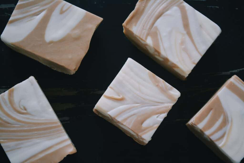 Bars of soap with Marble texture