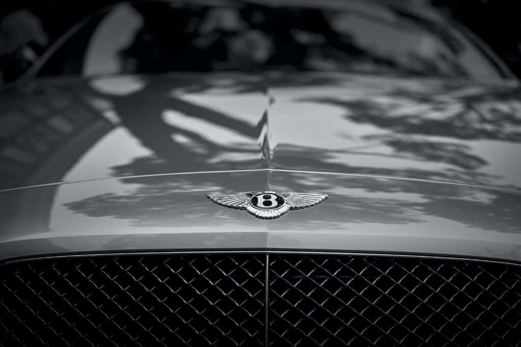 front of bentley