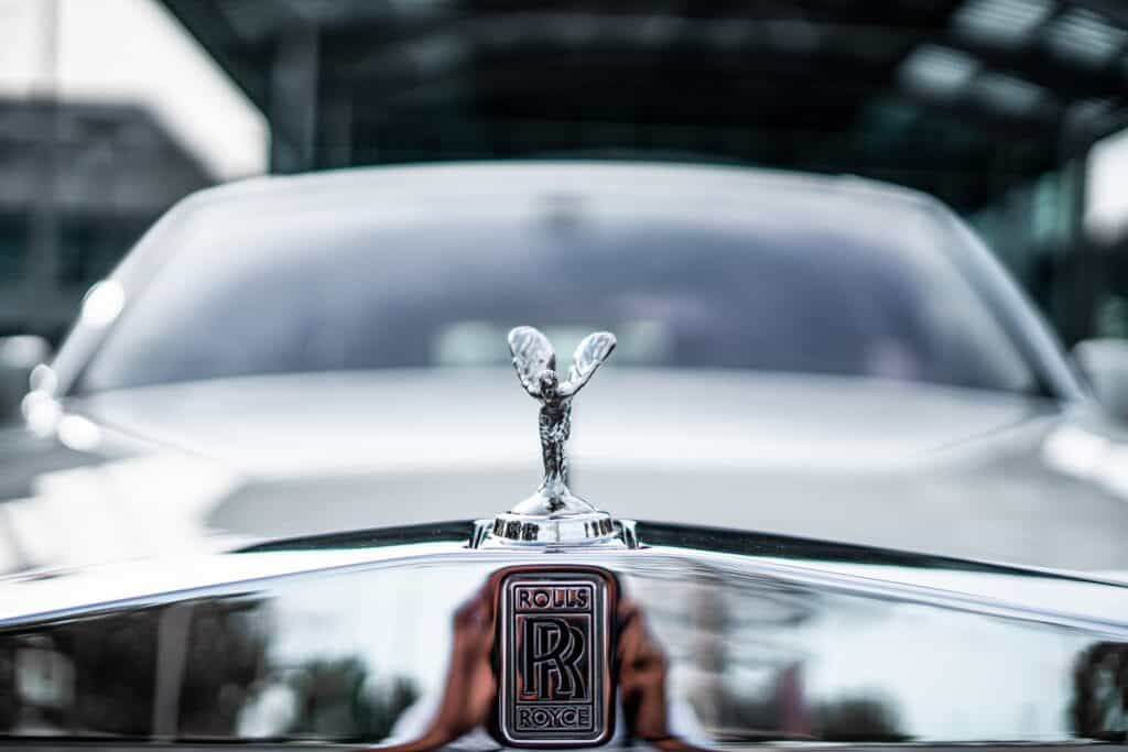 front of rolls royce
