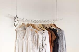 wrack of neutral colored clothes