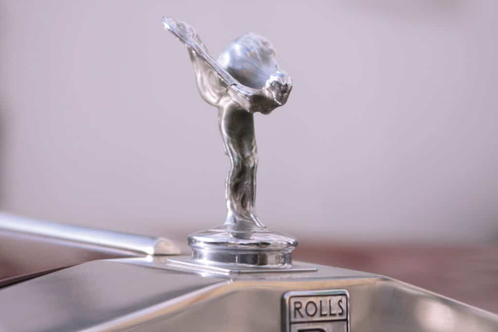 'spirit of ecstasy' Rolls Royce hood ornament