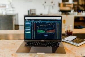 computer with stock market