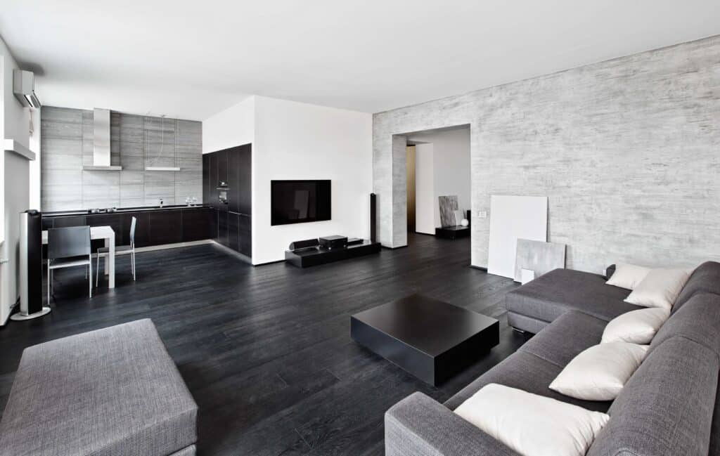 view of all grey living room