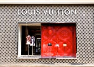 front of louis vuitton store