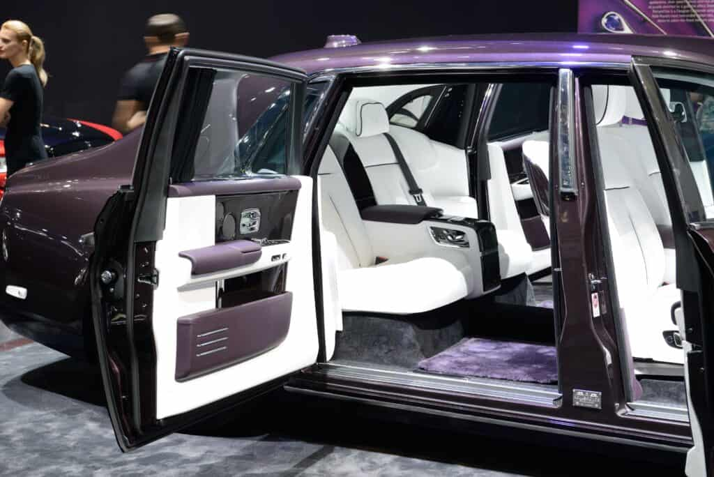interior of rolls royce phantom