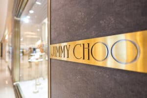 front of Jimmy Choo store