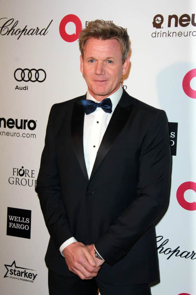 Gordon Ramsay in black suit