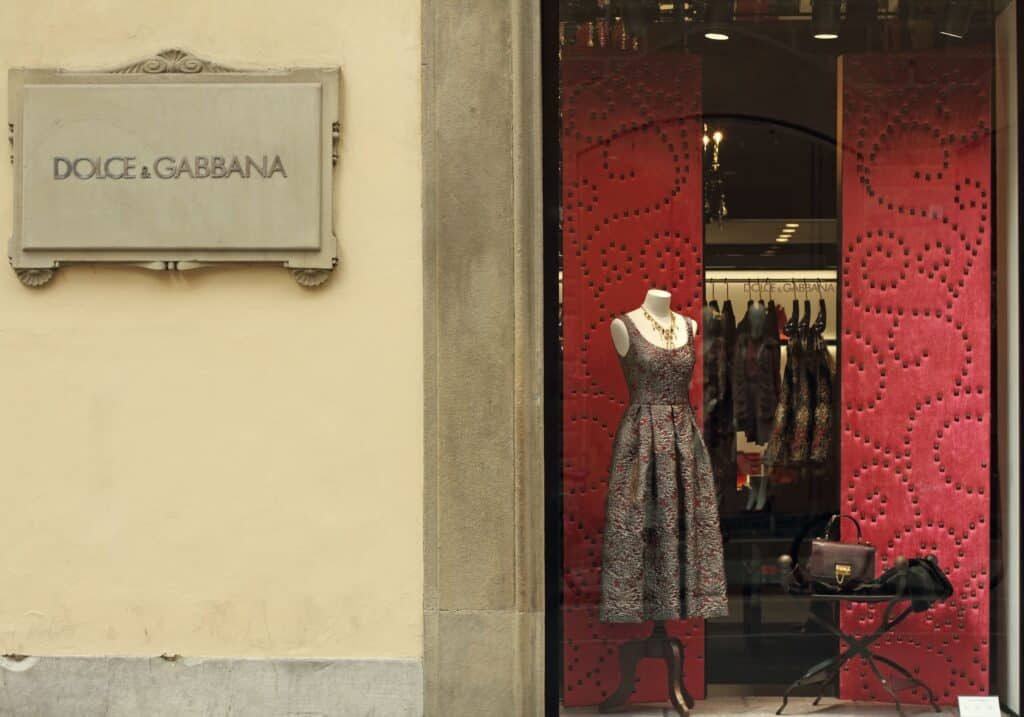 Dolce and Gabbana storefront