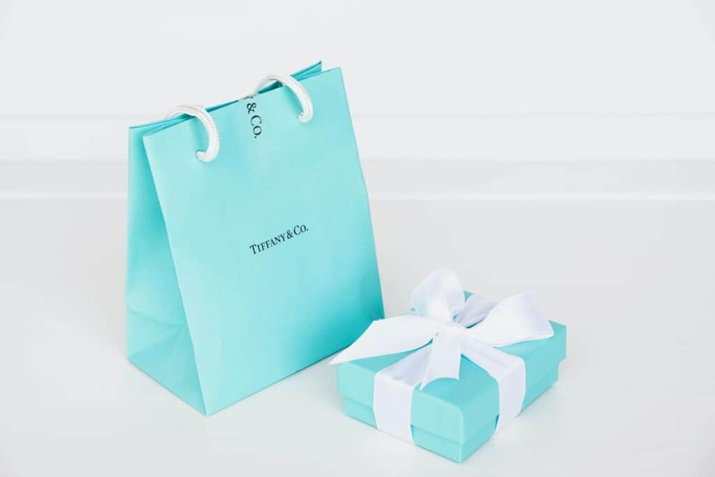 Blue tiffany and co. bag and ring box