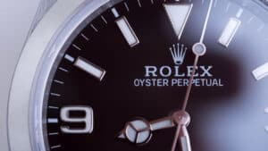 Close up of Rolex Oyster
