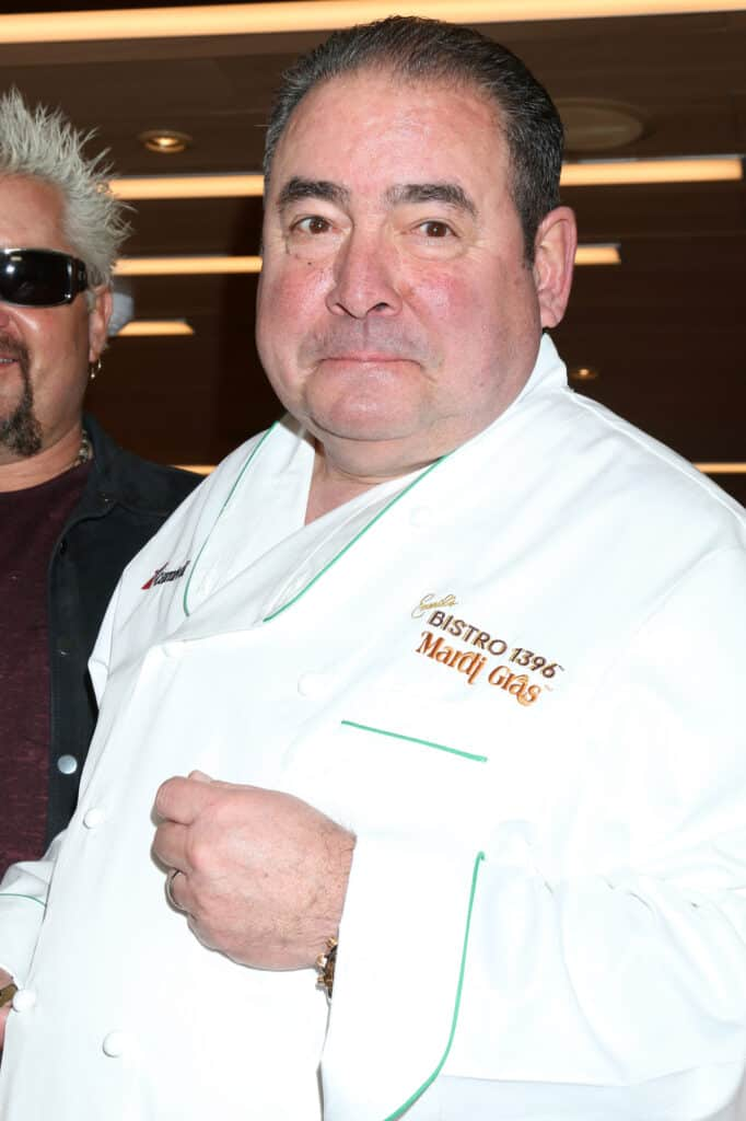 Emeril Lagasse in chef uniform
