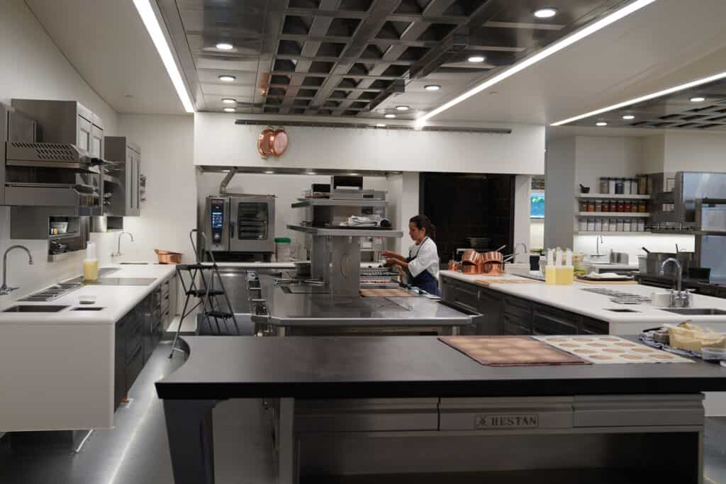 Inside of French Laundry kitchen