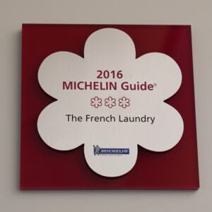 Michelin 3 star award for French Laundry in 2016
