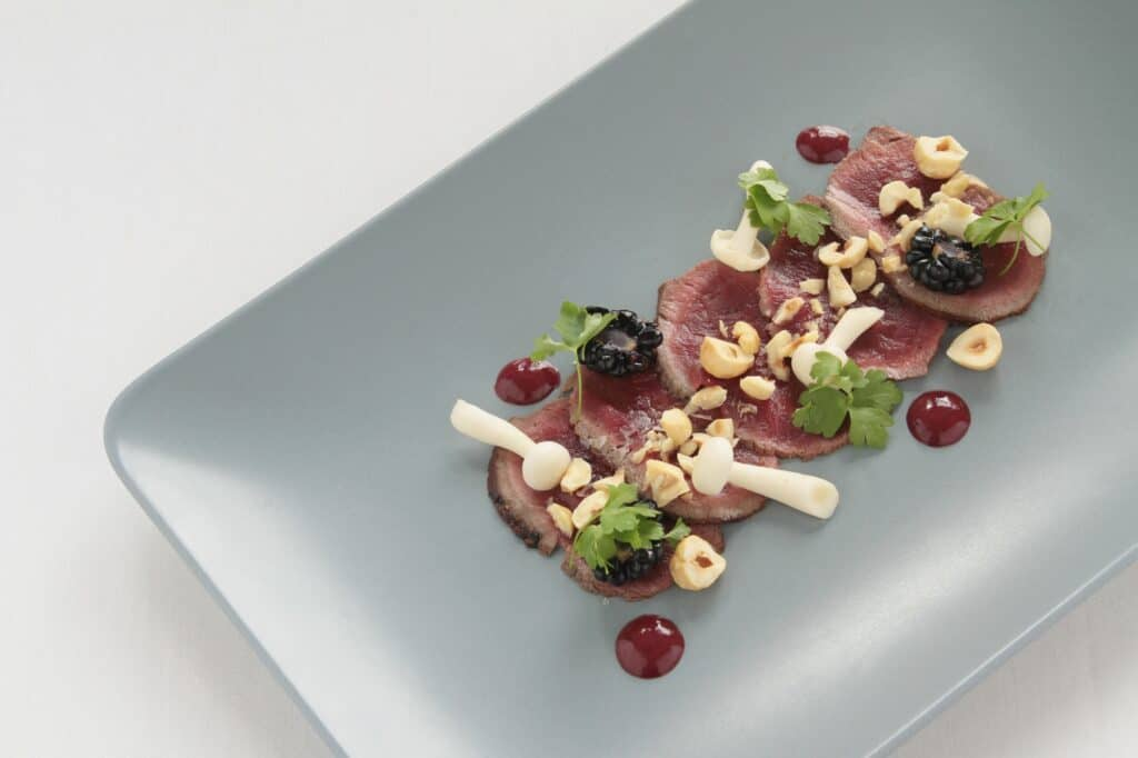 Plate of fine dining food