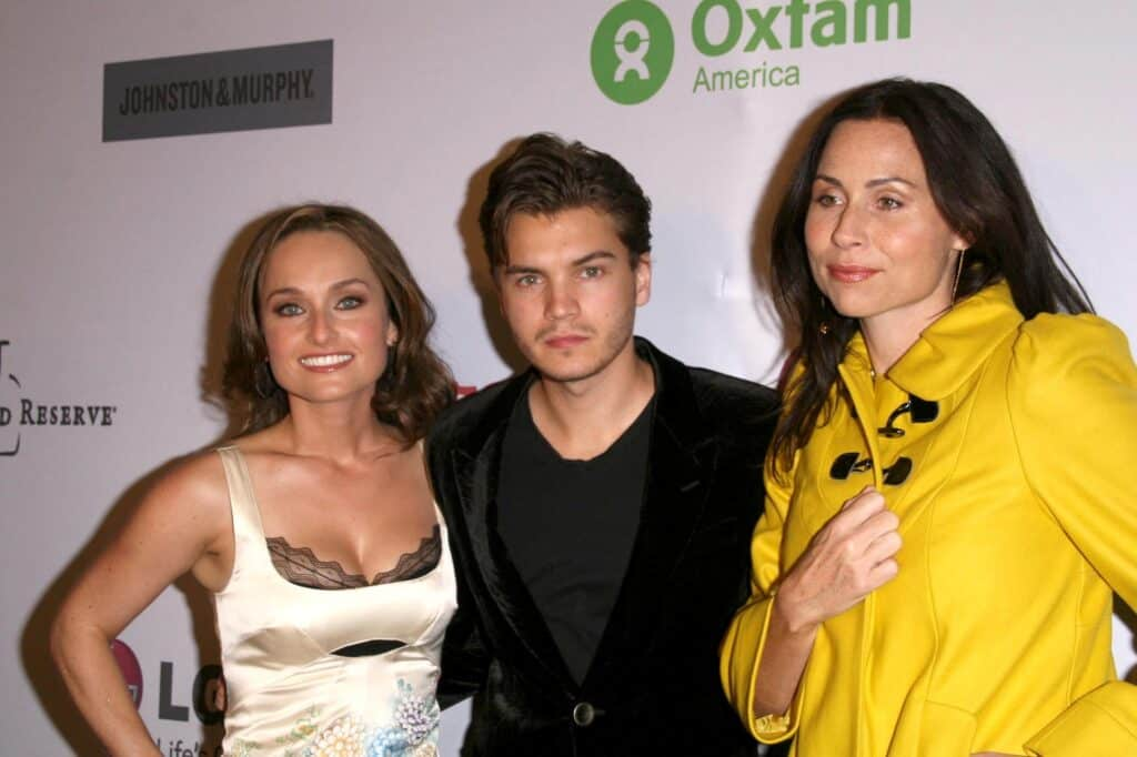 Giada De Laurentiis with Emile Hirsch and Minnie Driver at 'The Annual Oxfam Party'. Esquire House, Hollywood, CA
