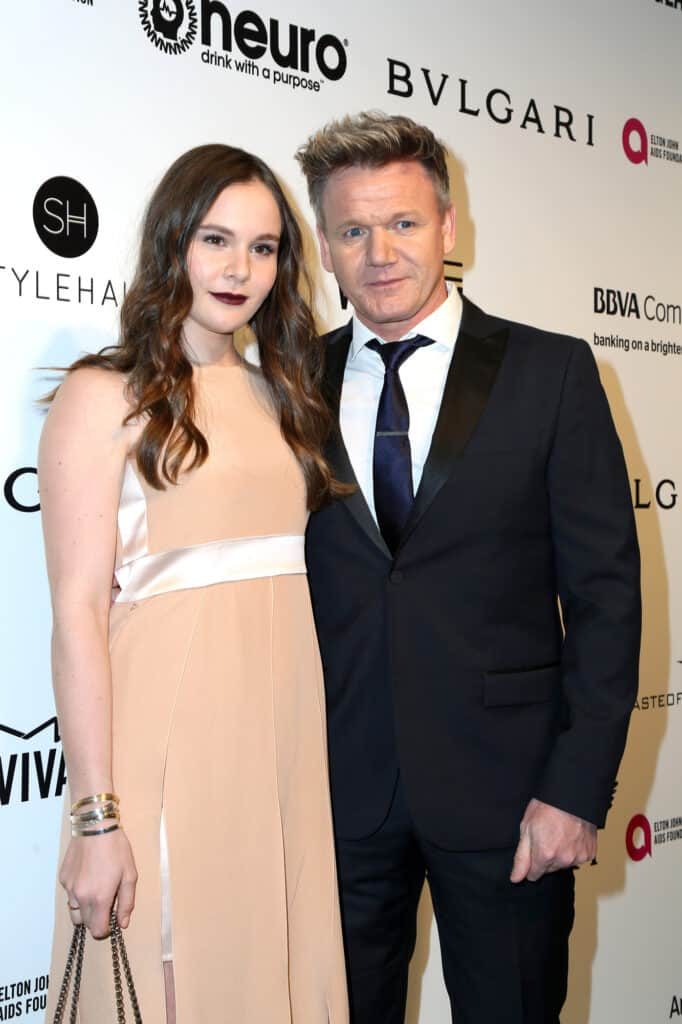 Gordon Ramsay at event with his wife