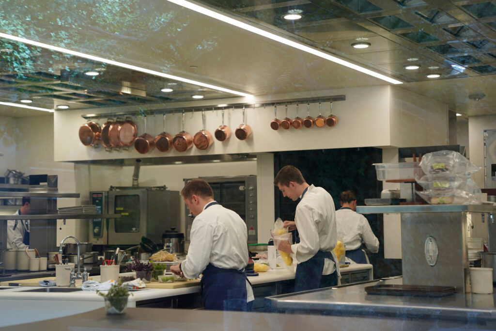 Inside of the French Laundry kitchen