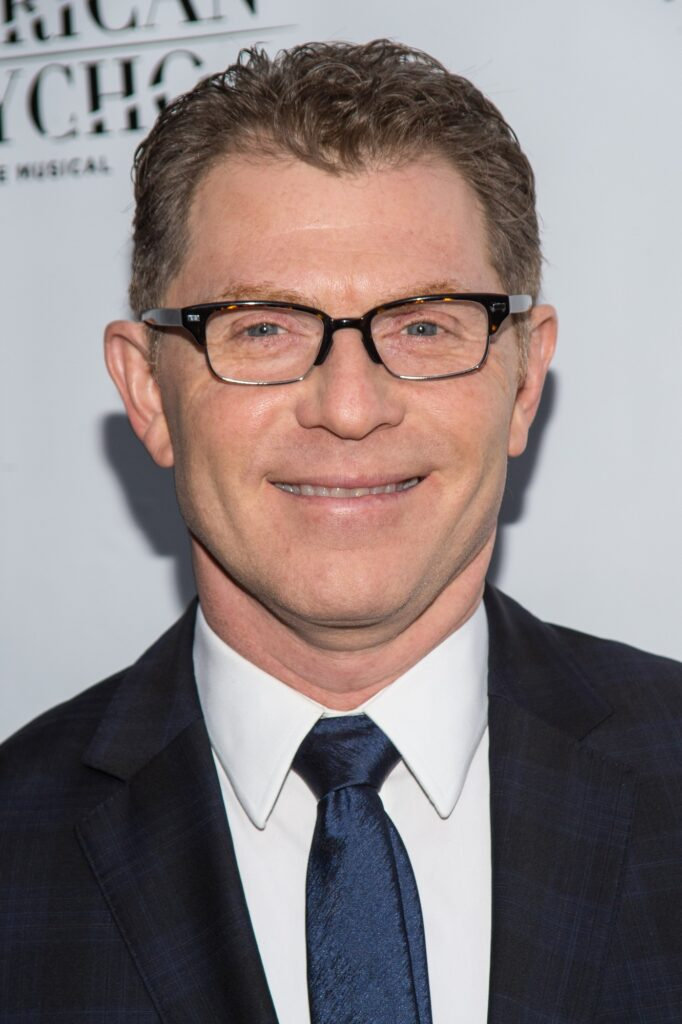 Portrait shot of Chef Bobby Flay at a red carpet event