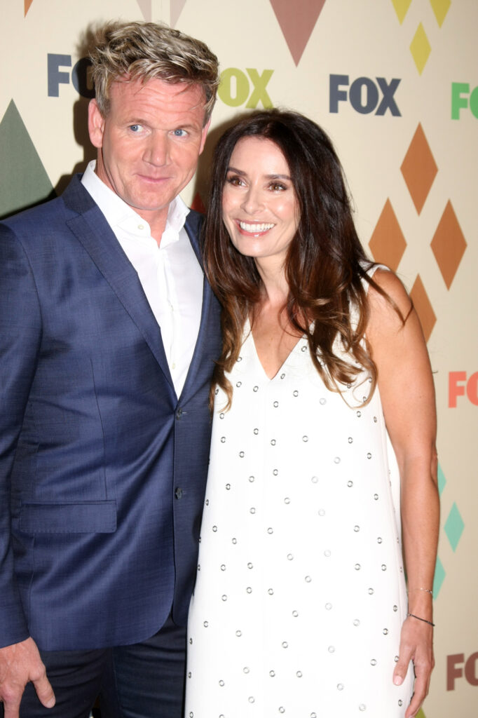 Chef Gordon Ramsay with his wife Tana Ramsay at a red carpet event